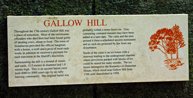 Information board for Gallow Hill and ice house