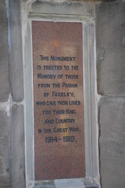 Fazeley War Memorial  (13)