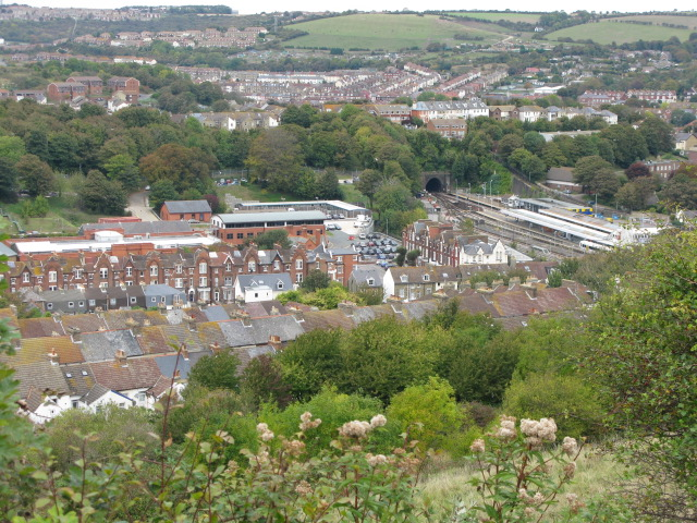 Dover roof tops from viewpoint on Western Heights