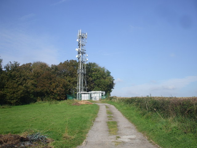Communications mast, near Michaelston-y-Fedw