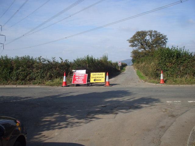 Road junction near Pen-y-lan