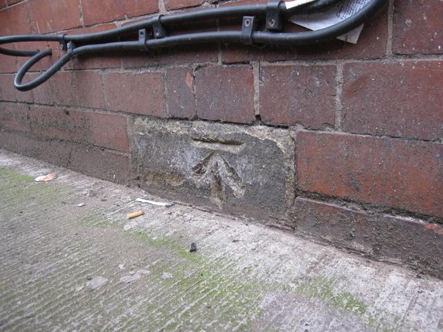 Bench mark just off Frodsham Street