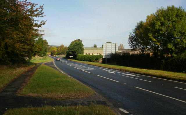 A49 heading north from Woofferton