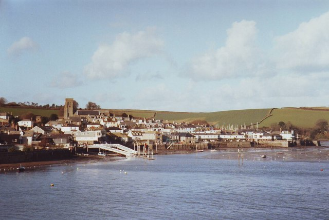 Salcombe harbour and town, Devon