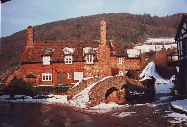 The packhorse bridge at Allerford, Somerset