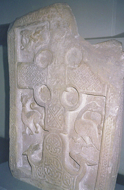 Carved stone at the Meigle Museum
