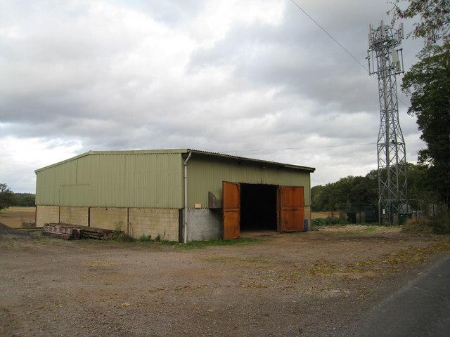 Telephone mast & barn