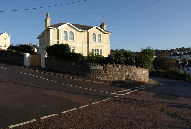 East end of Chatsworth Road, Torquay