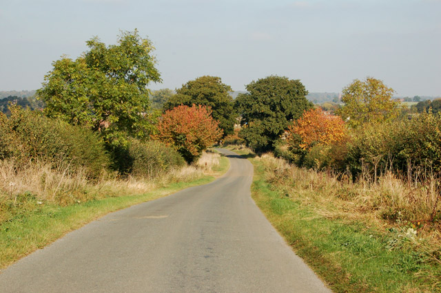 Looking north down the hill towards Hunningham