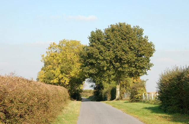 Road to Hunningham near Offchurch Sports Club