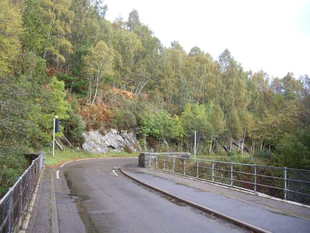 Crossing the Cannich Bridge