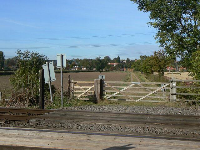 Farm crossing near Thurgarton