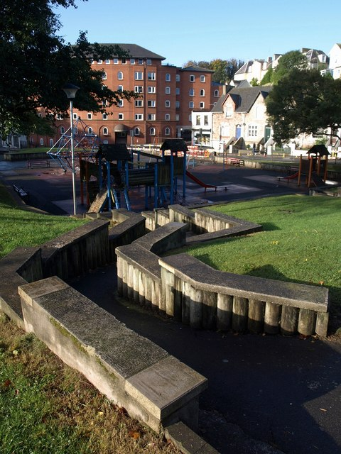 Steps to playground, Ellacombe Green