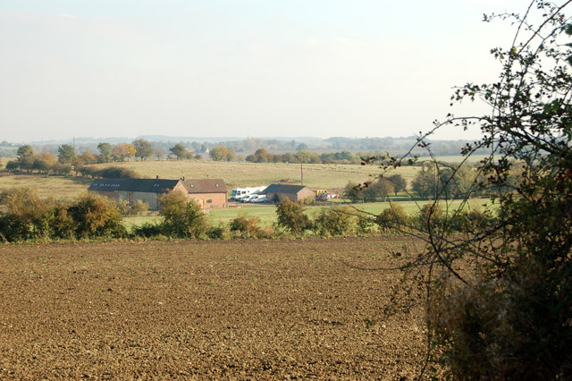 Looking east towards Stapenhall Farm