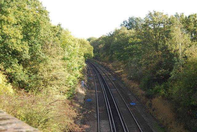 Railway from Philpots Lane bridge