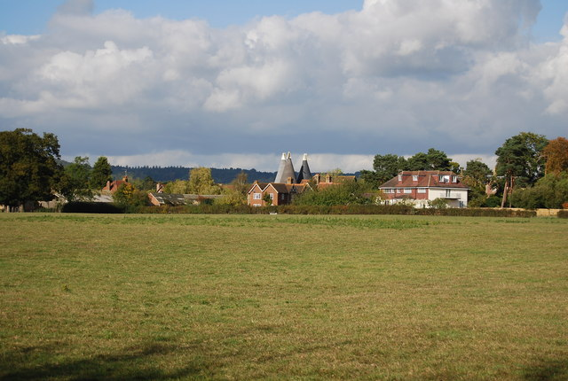 Bourne Place & Home Farm Oast houses from Philpot Lane