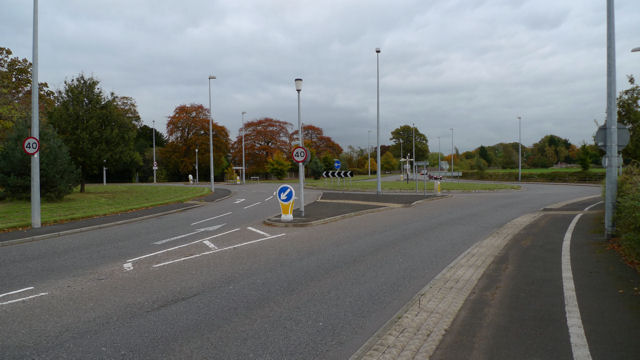 Roundabout on Dean Row Road