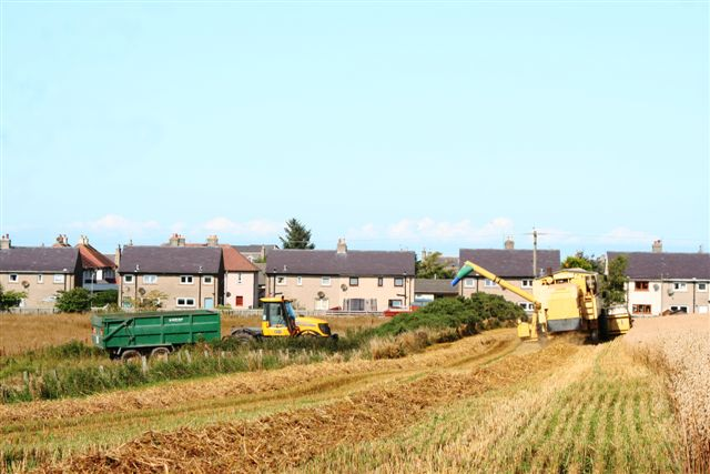 Harvest under way at Slackend farm