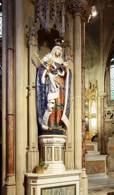 The Immaculate Conception, Farm Street, London W1 - Statue