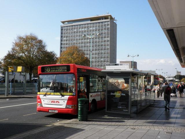 Bus stops, on Royal Parade