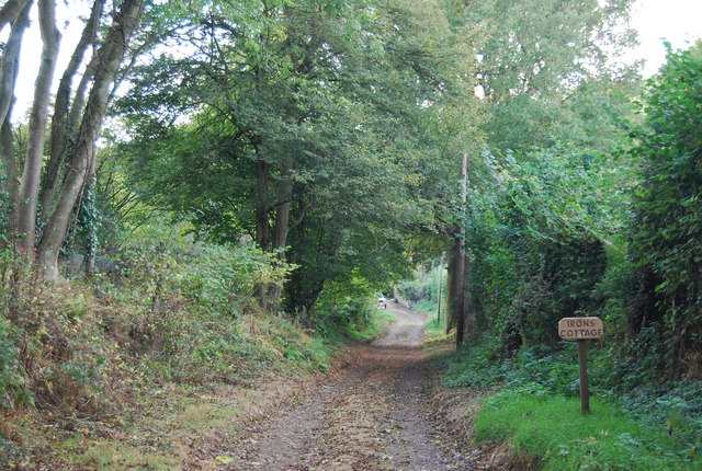 Track to Irons Cottage