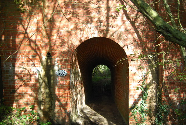 Tunnel under the railway near Irons Wood