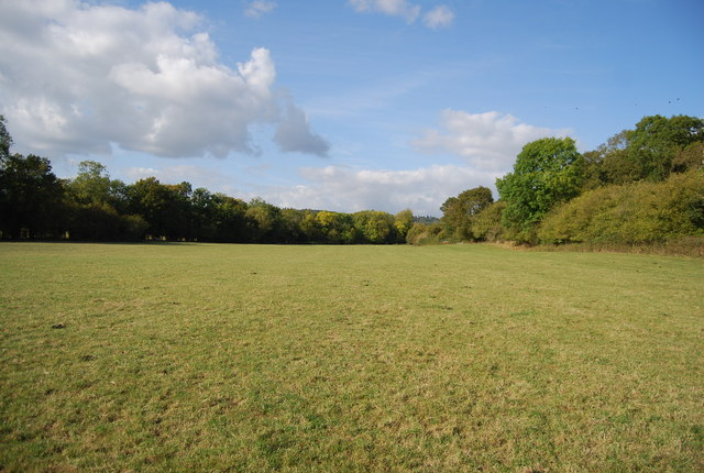 Large field by the railway