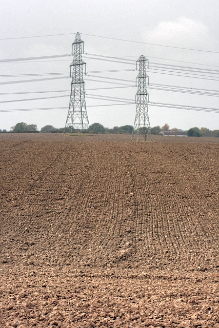 Pylons in Harrowed Field