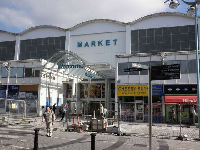 Market entrance, Plymouth