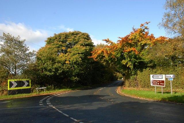 Junction Mill Lane Park hall Road