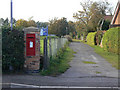 SK6946 : Postbox, Hoveringham (ref NG14 318) by Alan Murray-Rust