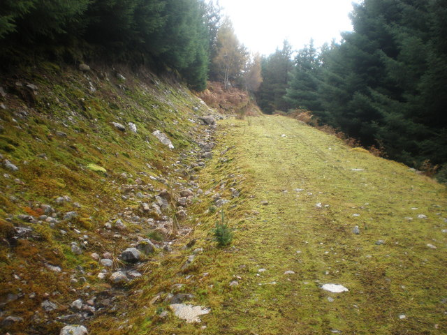 Track going up Garbh Dhoire