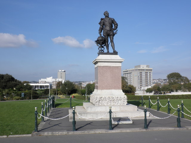 Statue of Sir Francis Drake, on The Hoe, Plymouth