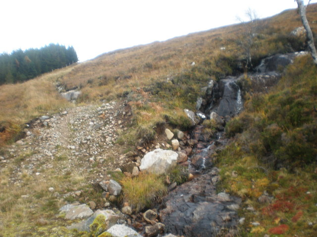 Old track going up Carn Dearg above Garbh Dhoire