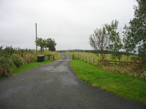 Drive leading to Grindstonelaw Farm