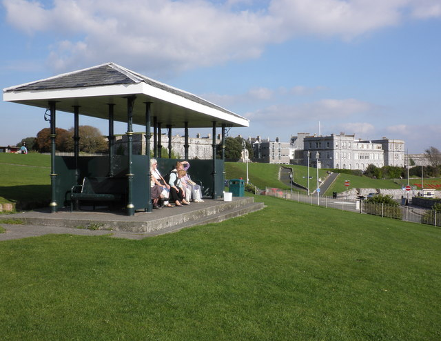 Shelter with a view, on Plymouth Hoe