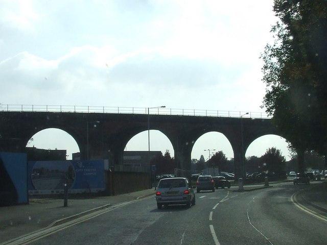 Railway viaduct over A449