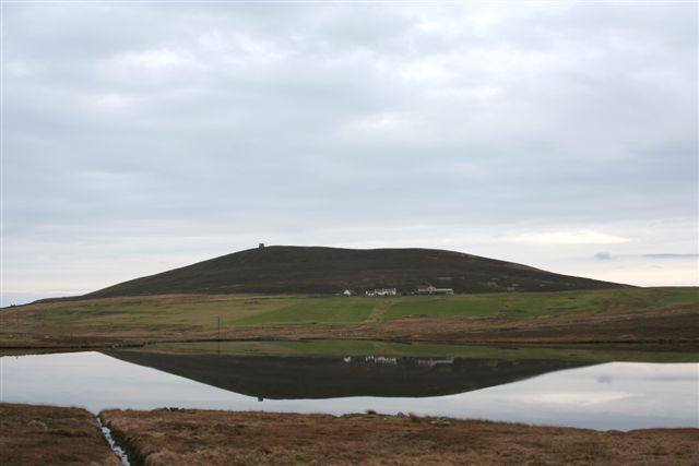 Loch of Setter with Brough and Ander hill behind