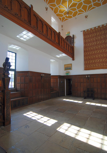 The Staircase Hall at Herstmonceux Castle