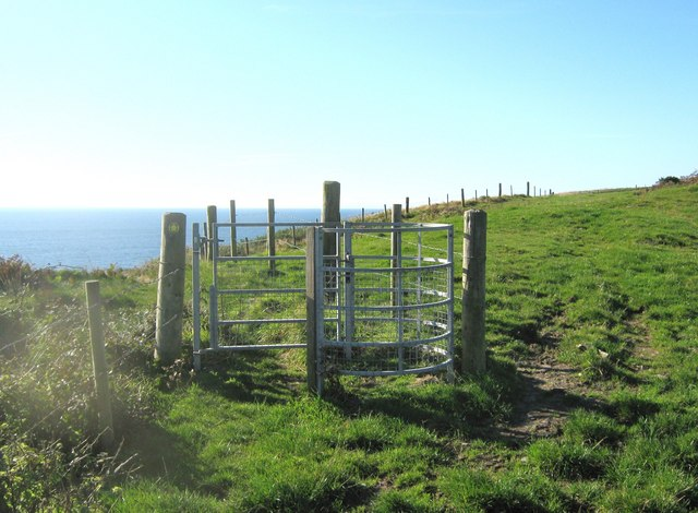 Gate on a cliff top walk