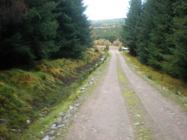 Track going to A87 at Garbh Dhoire
