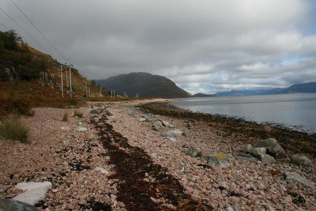 Beach with stones, Loch Linnhe