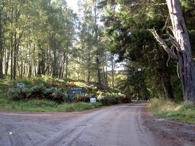 Footpath to Glenmoriston from Hilton Lodge