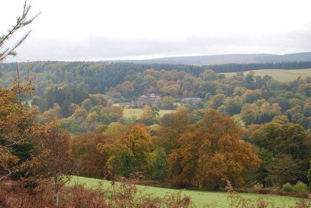 View across estate to Raehills