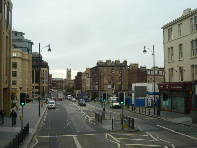 Lothian Road from a No.16 bus
