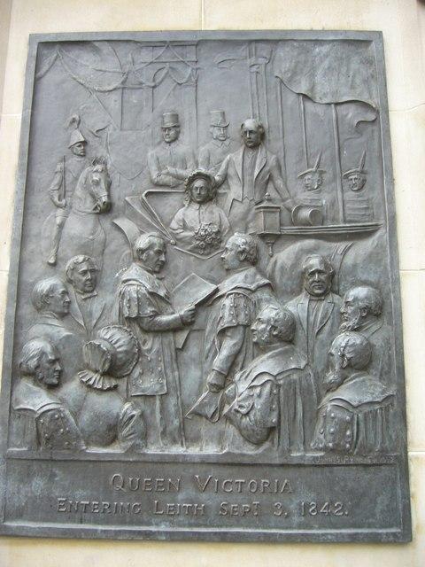 Queen Victoria statue panel