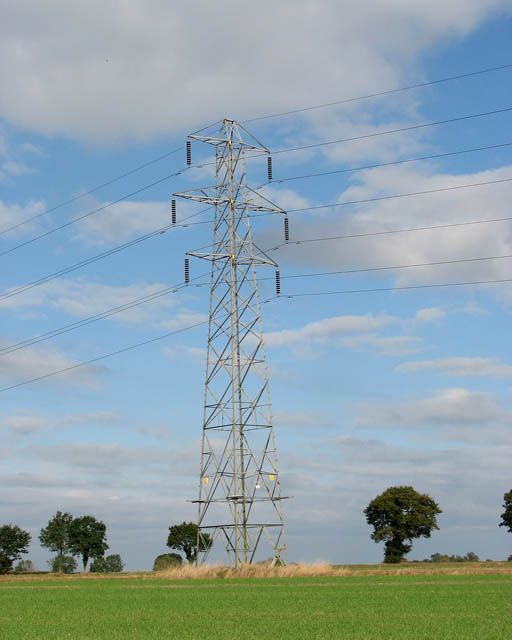 Electricity pylon in field south of Cooke's Road