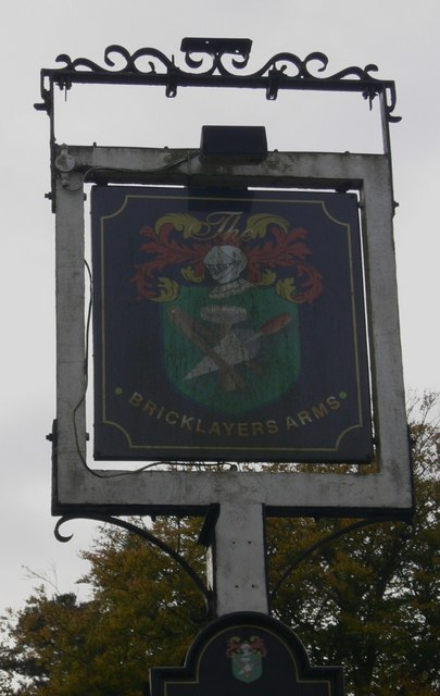 Sign at The Bricklayers Arms