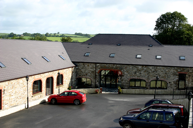 Front entrance to Llety Cynin Leisure Complex, formerly Pen-y-coed Farm
