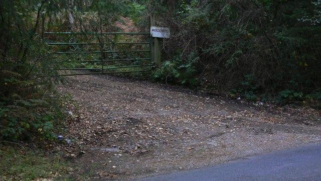 Gate on Thursley Road